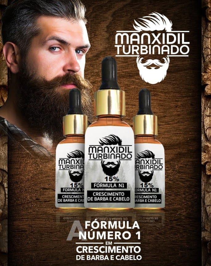 Manxidil Turbinado Crescimento de Barba e Cabelo