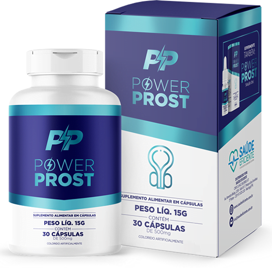 PowerProst Caps Forma Natural de Tratar a Próstata