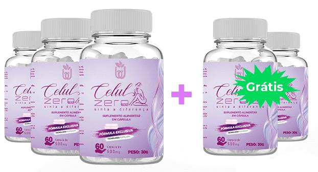 5 Meses de Tratamento - Reduz até 80% das Celulites (Contém 5 potes de Celul Zero)